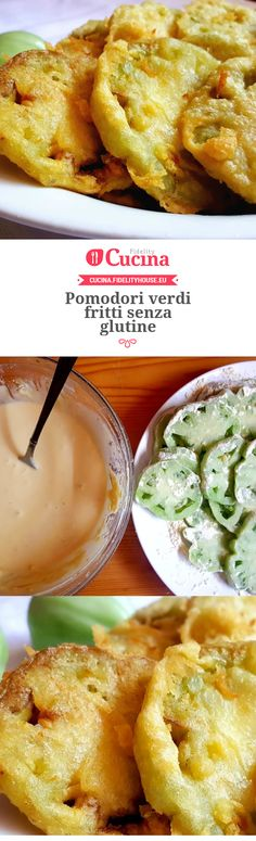 #Pomodori verdi fritti senza #glutine della nostra utente Monica. Unisciti alla nostra Community ed invia le tue ricette!