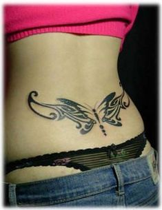 coolTop Friend Tattoos - awesome Friend Tattoos - nice Friend Tattoos - Lower back butterfly tattoo. Girl Back Tattoos, Back Tattoo Women, Sexy Tattoos, Body Art Tattoos, Spine Tattoos, Abdomen Tattoo, Tattoo Pain, Tattoo Thigh, Maori Tattoos