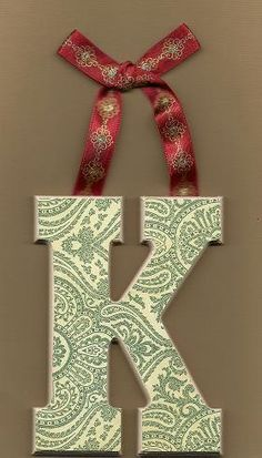 Paisley letter K Letter K, Letter A Crafts, Zentangle Patterns, Zentangles, Letter Ornaments, Relaxing Colors, Arts And Crafts, Diy Crafts, Calligraphy Letters