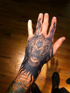 Goat hand tattoo