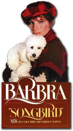 "Barbra Streisand - ""Songbird"" (1978), beautiful standee."