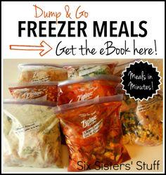 Dump and Go Freezer Meals on SixSistersStuff.com