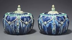 A rare pair of fahua weiqi boxes and covers, Ming dynasty, century, China Chinese Ceramics, Qing Dynasty, 16th Century, White Ceramics, Affair, Blue And White, Jar, Pottery, China