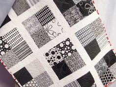 Modern Baby Quilt, Baby Quilt, Baby Blanket, Baby Bedding, Crib Quilt, Modern Baby Blanket, Quilt Baby, Baby Shower Gift, Black and White