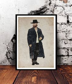 Peaky Blinders Alfie Solomons Tom Hardy A4 wall art watercolour print gift for him gift for her home decor BBC TV Show Valentines