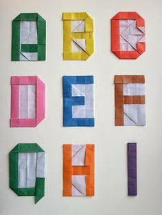 Sempre criança: A, B, C ORIGAMI   http://atelierpourenfants.blogsp...