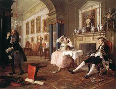 31. Hogarth, Breakfast Scene from Marriage a La Mode, Enlightenment, ENGLAND - Google Search