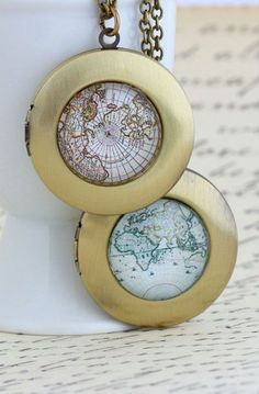 Map Locket Necklace...