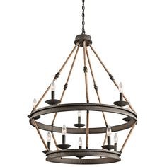 This tiered chandelier from Kichler is sure to be a talking piece in any home.