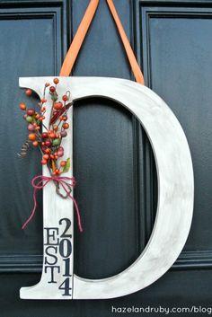 Door Monogram hanging