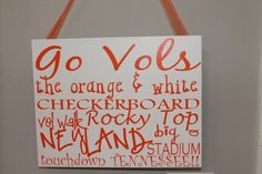 Funny Tennessee Vols   Tennessee Vols Painted Canvas   Art Projects