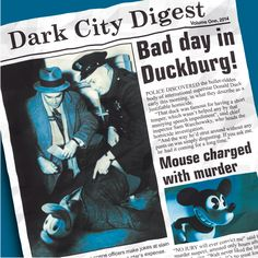 Those that know their film noirs from their Adam Sandler flicks will recognise that this mock newspaper headline references the 1955 Spencer Tracy movie 'Bad Day at Black Rock' - a title I've always liked, though it's not one of my favourite noirs. This comp of crime jazz & police/noir soundtrack music was inspired by the two images I used for the newspaper, both painted by the Austrian-born artist Gottfried Helnwein, who really ought to sue me, if he had any sense...