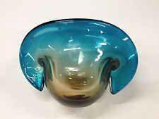 VTG 50s 60s Eames Era Sommerso Murano Glass Venezia Vase G. Giacobbi Foil Label