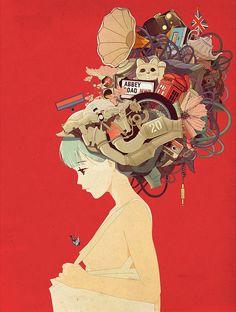 Shan Jiang – Ilustraciones (II)     ELEMENTOS - COMPOSICION