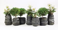 Recycled rubber containers from Serax  Design moniek vandenberghe