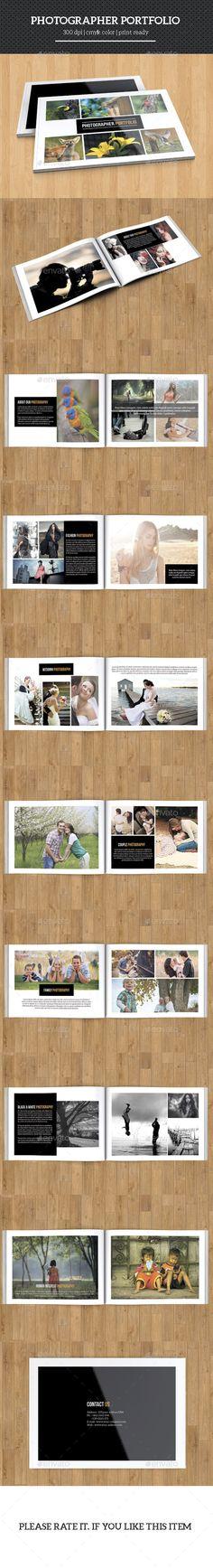 Photographer Portfolio Brochure Template #design Download: http://graphicriver.net/item/photographer-portfolio/11783249?ref=ksioks