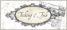 Ticking and Toile great how tows with fabric