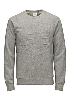 JACK & JONES TECH - Sweatshirt von TECH - Regular fit - Crew Neck - Raglan-Ärmel - Markenlogo-Stickerei an der Vorderseite - Bündchen und Saum sind gerippt - Innenseite mit Brush-Effekt 80% Baumwolle, 20% Polyester...