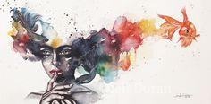 Watercolor Painting Art By Jen Duran