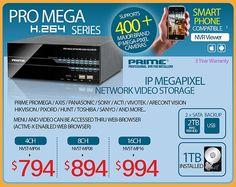 PRIME PRO MEGA H264 Industrial Grade Network NVR (Supports ALL Industrial MegaPixel IP Cameras)