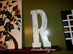 Wedding Guest Book Alternative Wooden Wedding by AllWoodToo #WeddingLetters #SignatureLetters #RusticLetters, $40