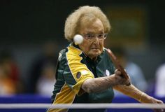 Oldest table tennis player.The most viewed records that amaze viewers are the records created by old people. Dorothy de low, 97 is the oldest living tennis player up to date. She represented Australia in the XIV World veterans Table Tennis Championships in Rio de Janeiro, Brazil, on May 25, 2008 and then on October 15, 2009 she participated in table tennis practice in the World Masters Games at Sydney Olympic Park