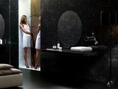 arredo bagno in marmo black matt - rubinetteria TUBE - by Bonomi Contemporaneo Italiano - design Sergio Mori http://www.idrosanitariabonomi.com/it/
