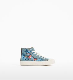 IRIDESCENT HIGH-TOP SNEAKERS-SHOES-GIRL | 4-14 years-KIDS | ZARA United Kingdom