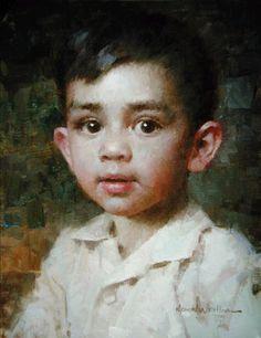 """Little Big Eyes"" -- Morgan Weistling (1964-- American)"