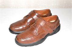 Dr. Comfort Frank Men's Brown Leather Diabetic Walking Loafer Slip On Shoe 11 M #DrComfort #MocLoaferSlipOn
