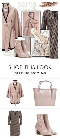 """""""Cool Neutrals"""" by samketina ❤ liked on Polyvore featuring Jacques Vert, Gucci, Max Studio, Valentino, TravelSmith and neutrals"""