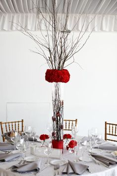 tall wedding centerpieces winter   Tall Reception Centerpieces