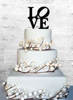 4 Love Wedding Cake topper is perfect for your Wedding or Engagement Cake!  The sing is made from 1/8 acrylic and perfectly fit to 6 top tier