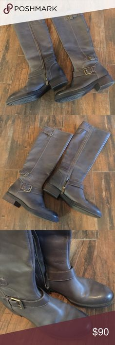 Beautiful grey riding boots!!!! These are gorgeous grey riding boots by Enzo Angiolini!!! I only wore these a few times so they are practically NEW!!! They are size 7 1/2 and I purchased them from Nordstrom. :) Enzo Angiolini Shoes Winter & Rain Boots