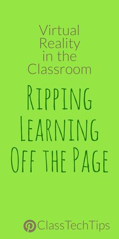 Virtual Reality in the Classroom: Ripping Learning off the Page - Class Tech Tips Science Websites For Kids, Science Games For Kids, Apps For Teachers, Learning Websites, Free Teaching Resources, Writing Websites, Reading Resources, Teaching Tips, Writing Games For Kids