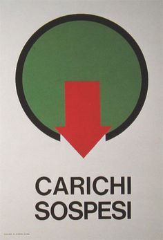 Cartello antinfortunistico Italsider (Eugenio Carmi, primi anni '60).