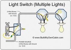 Simple electrical wiring diagrams basic light switch diagram how to wire a switch with multiple lights asfbconference2016 Gallery