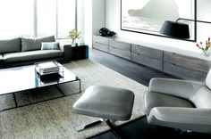 Drawers/counter along TV wall. Freed Penthouse Condo-5.jpg
