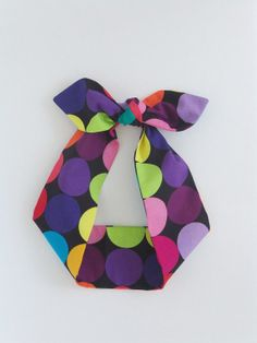 Dots Headscarf. Multi Color Headband. Tie Up by FiberBungalow, $12.00