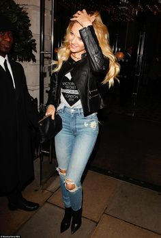 4715df248 African queen: Candice Swanepoel was an arresting sight as she made her way  to New