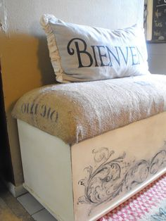 wooden chest makeover