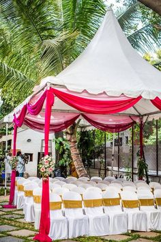 "Photo from Rings & Roses ""Portfolio"" album Wedding Decorations On A Budget, Decor Wedding, Budget Wedding, Indian Decoration, Terrace Decor, Wedding Mandap, Indian Wedding Outfits, Wedding Preparation, Mumbai"
