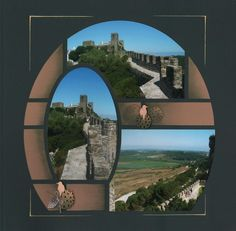 Walls of Obidos layout by Celine... I like the unusual grid-like design with faded-out sections