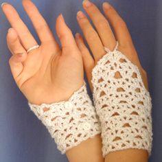 Crochet Pattern: Glamour Lace Wristers