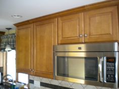 maple wood, Burnt Sugar finish, solid raised panels, in Danvers, MA by Oceanside Cabinets