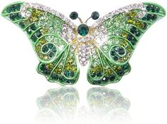 EVER FAITH Women's Austrian Crystal Cute Butterfly Insect Brooch: There is hardly a girl in this world who isn't into jewelry, especially such creative and unusual one. Butterfly Fashion, Cute Butterfly, Animal Jewelry, Jewelry Art, Jewellery, Book Jewelry, Antique Jewelry, Vintage Jewelry, Dragonfly Jewelry