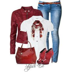 Love all the red leather!!