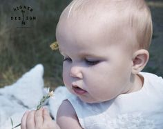 Flower babe. One year old photography. Baby photography. Children's photography. Nature photography. Baby girl