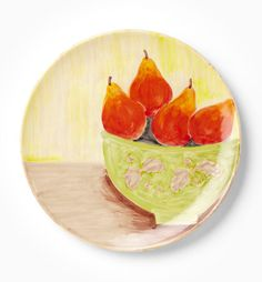 VIETRI - Sara's Fruit Pear Round Wall Plate we have at the this at the store