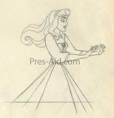 Disney Princesses - Preproduction Sketches (Aurora, Anastasia, Chel, and Pocahontas)